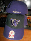Washington Huskies NCAA 2-Tone Franchise Black Purple Hat Cap Lid University WA