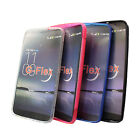 S Line Gel TPU Case Back Cover + LCD Screen Film For LG G FLEX F340 F340S