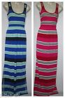 NEW LADIES FRENCH CONNECTION STRIPED JERSEY MAXI BEACH DRESS  SIZE 4 - 14