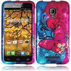 For Alcatel ONETOUCH Fierce HARD Protector Case Snap Phone Cover Butterfly Bliss