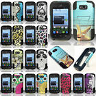 zte savvy cover - For ZTE Savvy Z750C Advanced Layer HYBRID KICKSTAND Rubber Phone Case Cover