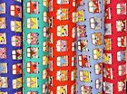 VW Retro Camper Vans Fabric: 100% Cotton - Choose Colour  Fat Quarters - Metres