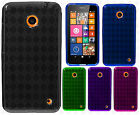 For Nokia Lumia 635 TPU CANDY Hard Gel Flexi Skin Case Phone Cover Plaid