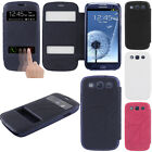 For Samsung Galaxy S 3 i9300 I535 T999 View Folio Flip Leather Wallet Case Pouch