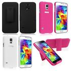 Hybrid Texturised Case Cover Skin Clip Holster For Samsung Galaxy S5 SV i9600
