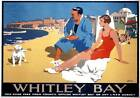 Whitley Bay Tyne & Wear Northumberland. LNER Vintage Travel Poster by F Newbould