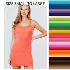 Tank Top CAMI DRESS W/ ADJUSTABLE SPAGHETTI STRAPS Mini DRESS S/M/L Free Ship