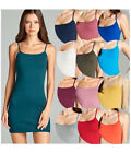 Tank Top Cami Mini Dress Short Active Basic Spaghetti Straps S/M/L Free Ship