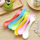 3 In 1 Spork Utensil Camping Hiking Spoon Fork Combo Backpacking Bento Outdoor