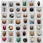 ♥ Natural Wood, Horn & Bone Light, Blind, Cord Pull End ♥ 45 Styles ♥14mm-40mm