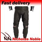 RST R-14 FULL GRAIN LEATHER CE ARMOURED MOTORCYCLE MOTORBIKE TROUSERS BLACK
