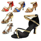 Brand New Women's Ballroom Latin Tango Dance Shoes heeled Salsa 6 Colors 255-S-W
