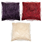 Scatter Box Ribbon Ruffle Feather Filled Cushion