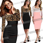 Womens Pinup Square Neck Polka Dot Wear To Work Cocktail Sheath Shift Dress 807