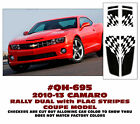 QH-695 2010-13 CHEVY CAMARO - RALLY DUAL with FLAG - OVER the CAR STRIPE - COUPE