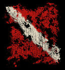 T-shirt Scuba Diving Amphibious Outfitters Distressed Flag
