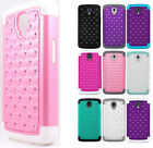 For LG Volt LS740 F90 IMPACT Dazzling Diamond Case Cover +Screen Protector