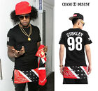 Extended Long Bandana CEASE DESIST STOKLEY 98 Graphic Tee T Shirt 2 Side Zip