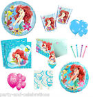 Disney LITTLE MERMAID Birthday Girl Party Complete Set Plates Cups Napkins