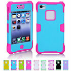 New Shine in the Dark Hybrid Luminous Silicone Case Back Cover For iPhone 4 4S