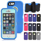 3-Proof Heavy Duty Rugged 3 Layers Combo Case Cover + Belt Clip for iPhone 5 5S