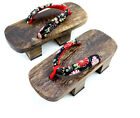 Traditional Japanese Unisex Sandals Japanese Geta Men & Women Floral Flat clogs