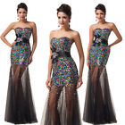Shining Sequins Sexy Long Ball Gown Prom Evening Cocktail Bridesmaid Party Dress