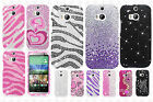 For HTC One M8 Crystal Diamond BLING Case Snap On Phone Cover Accessory