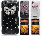 For Boost Mobile ZTE MAX N9520 Crystal Diamond BLING Case Cover + Screen Guard