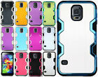 For Samsung Galaxy S5 Cosmic HYBRID HARD Brushed Metal Rubber Case Phone Cover