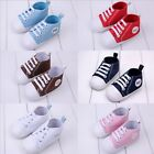 Baby Girls Boys Infant Toddler Canvas Soft Sole Crib Walk Shoes Sneakers 0-18 M