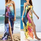 Two Colors Floral Print Fashion Padded Bra Swimsuit Chiffon Beach Cover-up