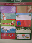 CHRISTMAS PEEL AND STICK GIFT TAGS LARGE REGULAR