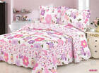 Patchwork Warm Quilted Bedspreads Set Coverlet Queen King Size Bed Throw Blanket