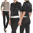 The Mogan S~3X Military DOUBLE BREASTED JACKET Short Sleeve Stand Collar Blazer