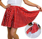SHORT POLKA DOT SKIRT & SCARF ADULT ROCK AND ROLL 1950S FANCY DRESS COSTUME