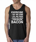 Exercise Eggs Are Sides For Bacon Tank Top Tee Shirt Funny Paleo College Humor