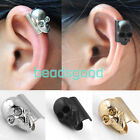 Temtation Metallic Pirate Skull Ear Cuff Wrap Clip Earring Fake Non Piercing
