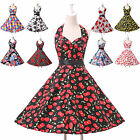 STOCK!! Vintage Rockabilly Floral Retro Swing 50s 60s pinup Housewife Prom Dress