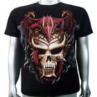 Japanese Vampire Skull Chinese Fire Dragon Breed Tattoo Tee Men T-shirt XL & XXL