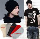 New Mens Oversized Winter Warm Knitted Slouch Beanie Ribbed Skull Hat Ski Cap