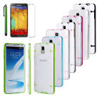 New Hybrid Transparent TPU Gel Skin Case Cover For Samsung Galaxy Note 3 N9000