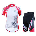 Women Short Sleeve Bike Activewear Breathable Cycling Jersey + Short Pants Sets