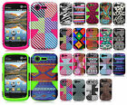 For Lg Optimus Fuel L34C IMPACT TUFF HYBRID Protector Case Phone Cover Accessory