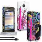 Yousave Accessories For Huawei Ascend Y330 Floral Design Silicone Case Cover UK
