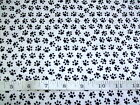 RESCUE ME - PAW PRINTS ON WHITE CAT & DOG FABRIC RANGE 100% COTTON PATCHWORK