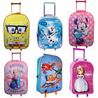 Disney & Kids Character 3D School Travel Trolley Roller Wheeled Bag Brand New