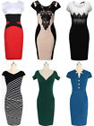 Womens Block Coloured Bodycon Dress  Ladies Cocktail Party Dresses Size New 6-16