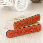 Vintage Wooden Flower Lace Handwriting Floral Scrapbooking Craft Rubber Stamp