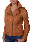 NEW WOMENS BIKER JACKET CROP LEATHER LADIES ZIP COAT SUMMER CASUAL JACKET  BNWT